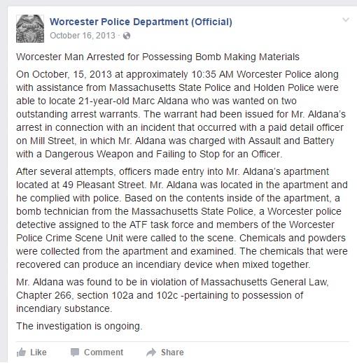 Bomb Arrest WPD FB